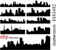 city background vector - stock photo