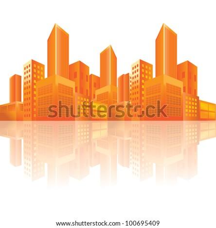 city background vector - stock vector