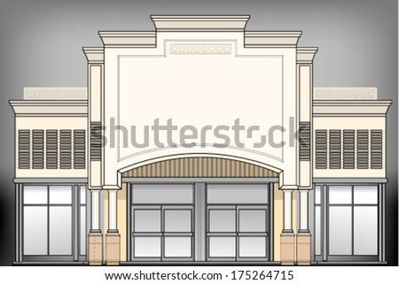 City building - stock vector