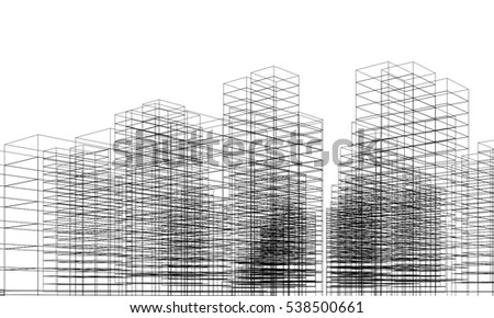 City Buildings Architectural Drawing