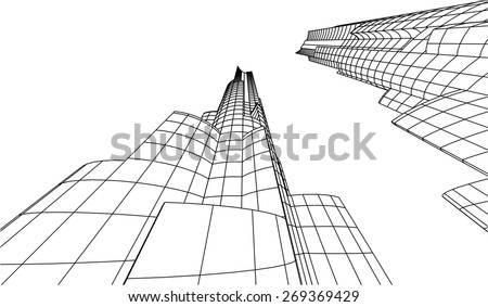 City buildings. Architecture background