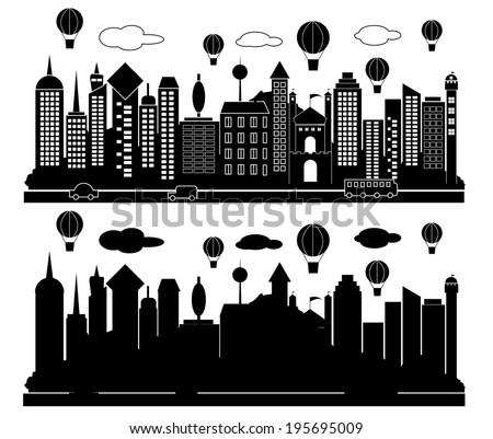 city buildings vector - stock vector