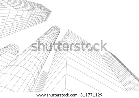 city buildings vector background