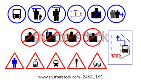 City Bus Signs - stock vector