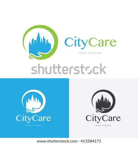 City Care logo template. - stock vector