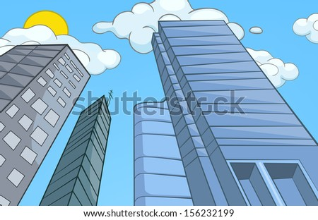 City Cartoon. - stock vector