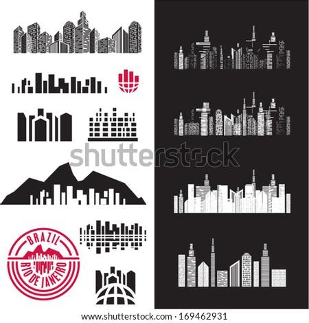 City. Cityscape. Buildings. - stock vector