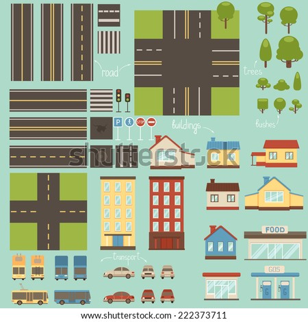 City design elements - stock vector