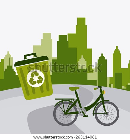 City design over white background, vector illustration. - stock vector
