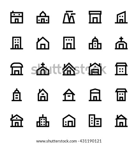 City Elements Vector Icons 3 - stock vector