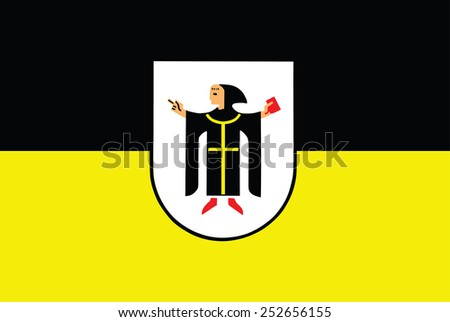 City flag of Munich, Germany. Original and simple Munich city flag isolated vector in official colors and Proportion Correctly . - stock vector