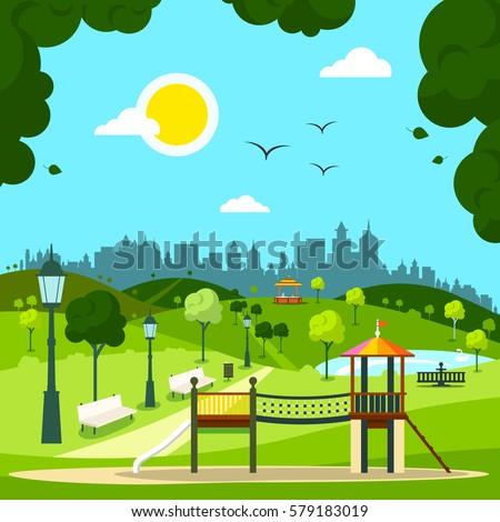 Childrens Garden Swings Backyard Playground And Swing