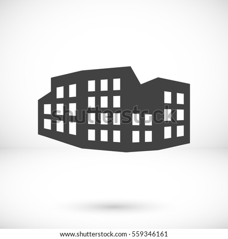 city icon vector illustration. Flat design style