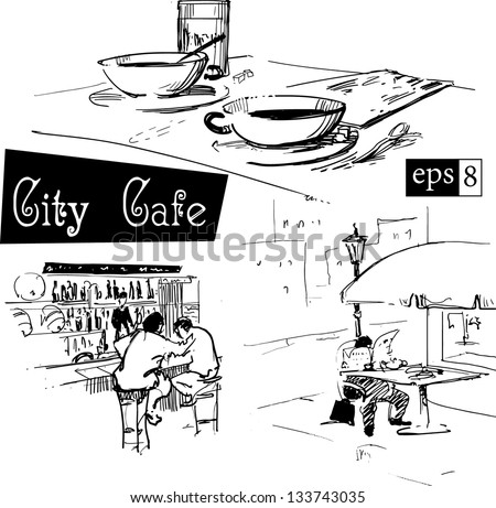 City icons - stock vector