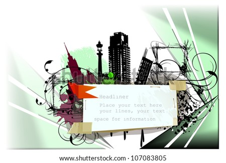City illustration, modern life concept - stock vector