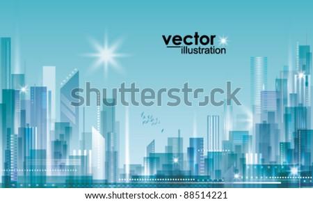City Landscape - stock vector