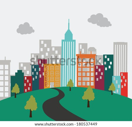 city landscape  design  vector illustration - stock vector