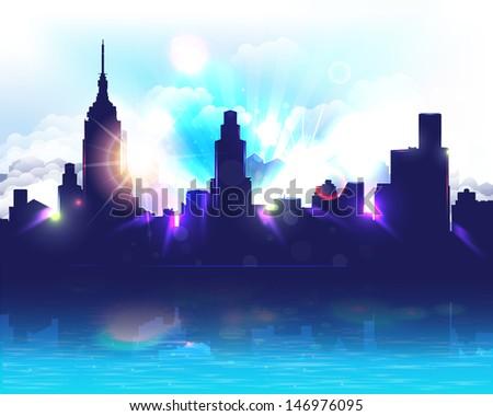 City Landscape Vector Design - stock vector
