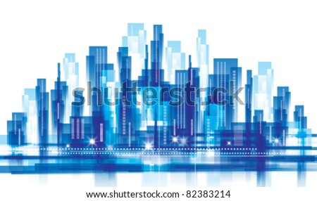City Landscape. Vector illustration - stock vector