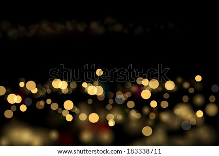 City lights abstraction. Vector eps 10 - stock vector