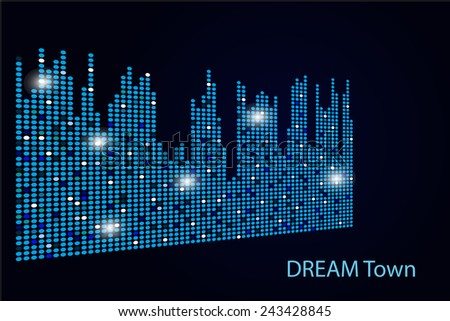 city lights in the night vector background - stock vector