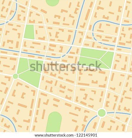 City map - seamless vector wallpaper