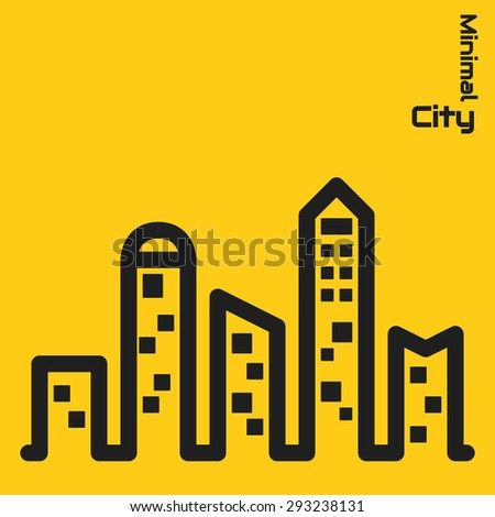 city minimal concept - stock vector