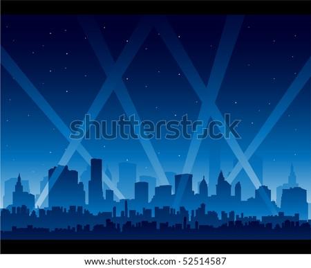 City night - stock vector