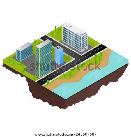 City of infographics - stock vector