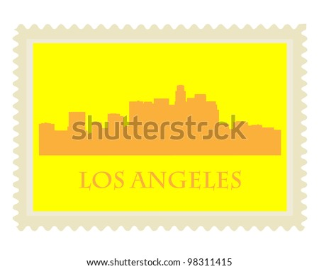 City of Los Angeles high rise buildings skyline - stock vector