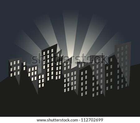 City of Sunrise - stock vector