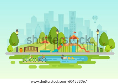 city park vector - photo #21