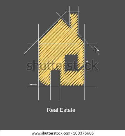 city real estate circuit project - stock vector