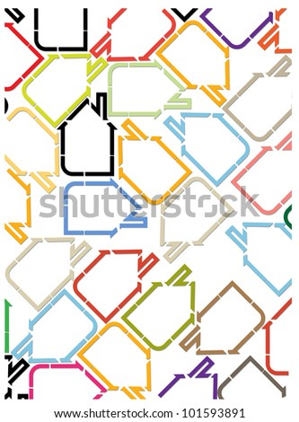 city real estate house background vector - stock vector