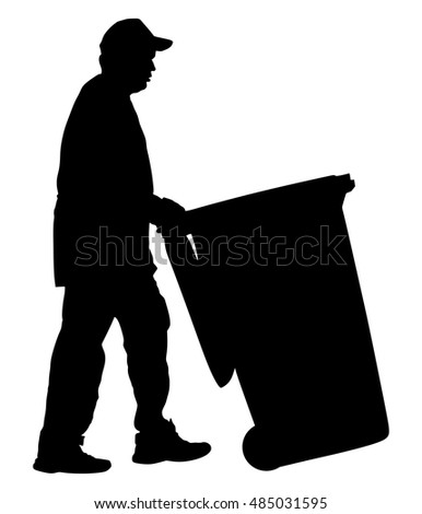 Janitor Silhouette Stock Images Royalty Free Images