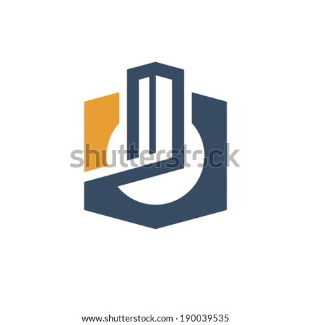 City sign Branding Identity Corporate vector logo design template Isolated on a white background - stock vector
