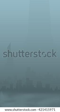city silhouette 01 - stock vector
