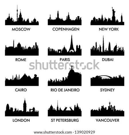 city ??silhouette vector