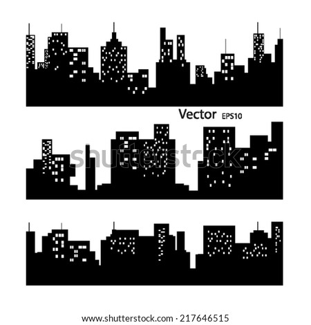 city silhouette vector - stock vector
