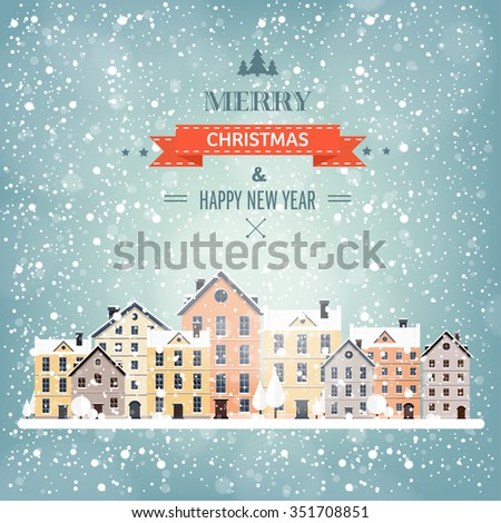 City silhouettes. Cityscape. Town skyline. Panorama. Midtown houses. Summer. - stock vector