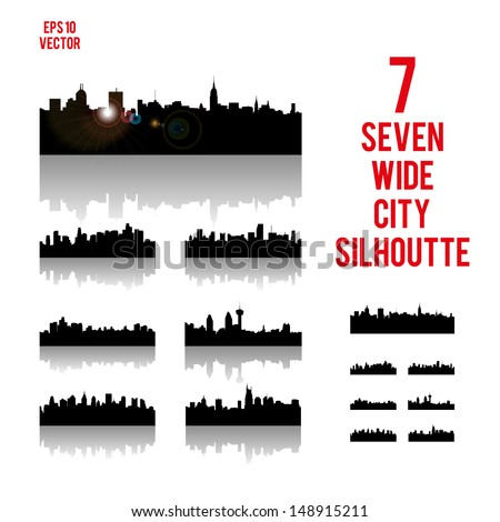 City Silhouettes. High quality vector illustration. Eps10.
