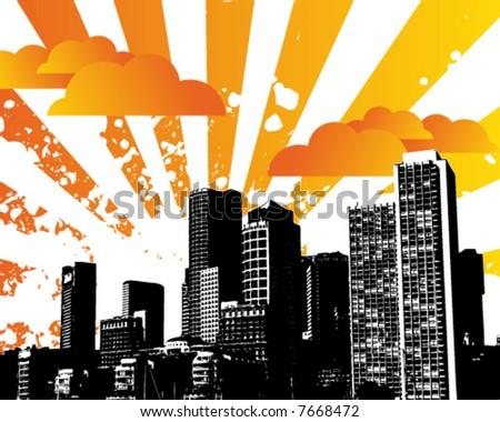 City Sky - stock vector
