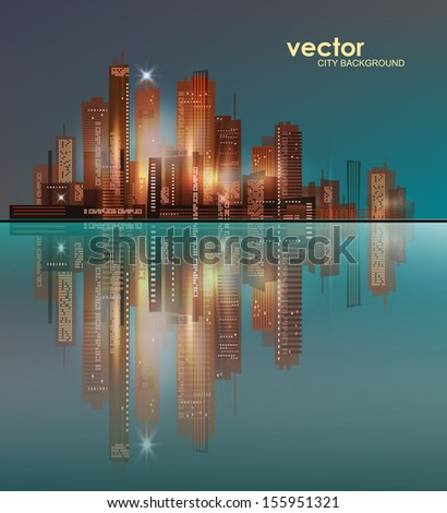 City skyline - stock vector