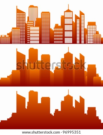 City skyline - stock vector