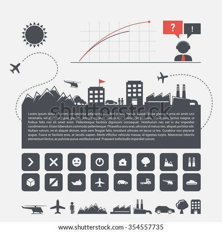 City skyline infographics