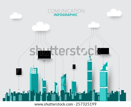 City skylines background vector illustration. flat city building. Up town flat  and design. - stock vector