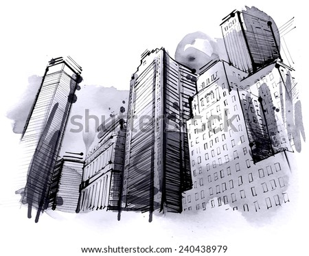 City Skyscraper - stock vector