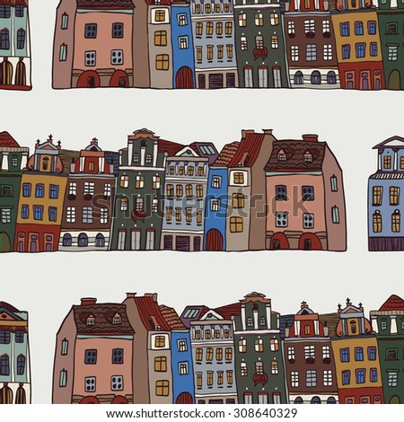 city town  houses pattern