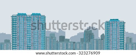 City. Urban vector texture