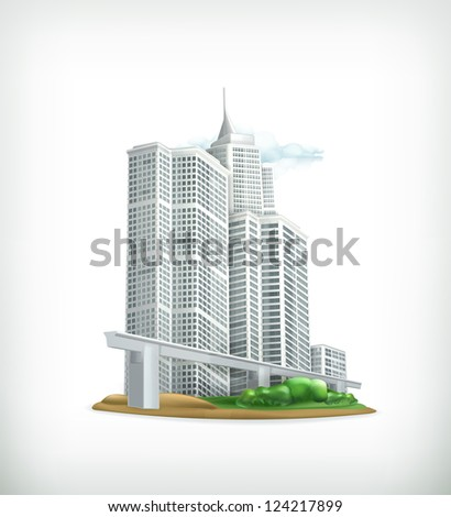 City, vector - stock vector